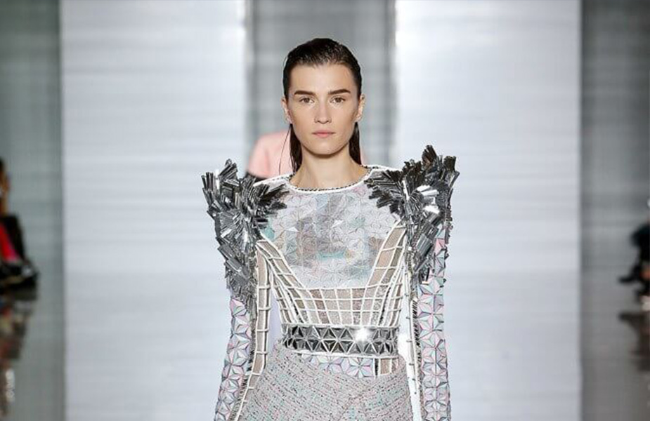 Irina Duranovic Leaded the Defile at the Balmain Fashion Show