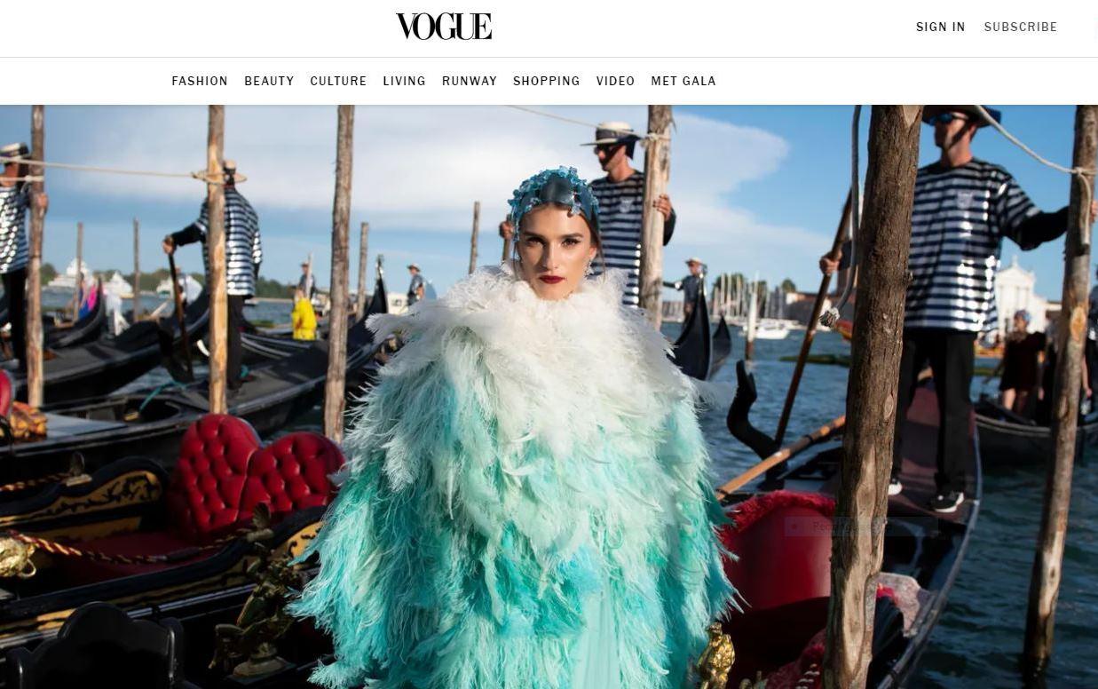 Irina Đuranović na spektakularnoj DOlce & Gabbana Alta Moda reviji u Veneciji