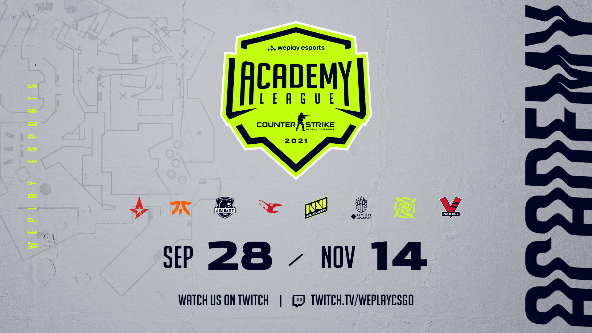 WePlay Academy League Groups Announced: Astralis Talent To Debut Against Young Ninjas