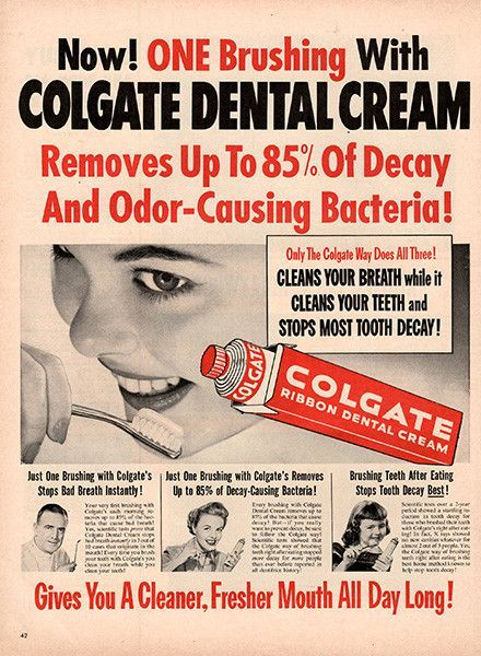 old toothpaste ad.