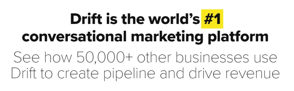 drift and conversational marketing.