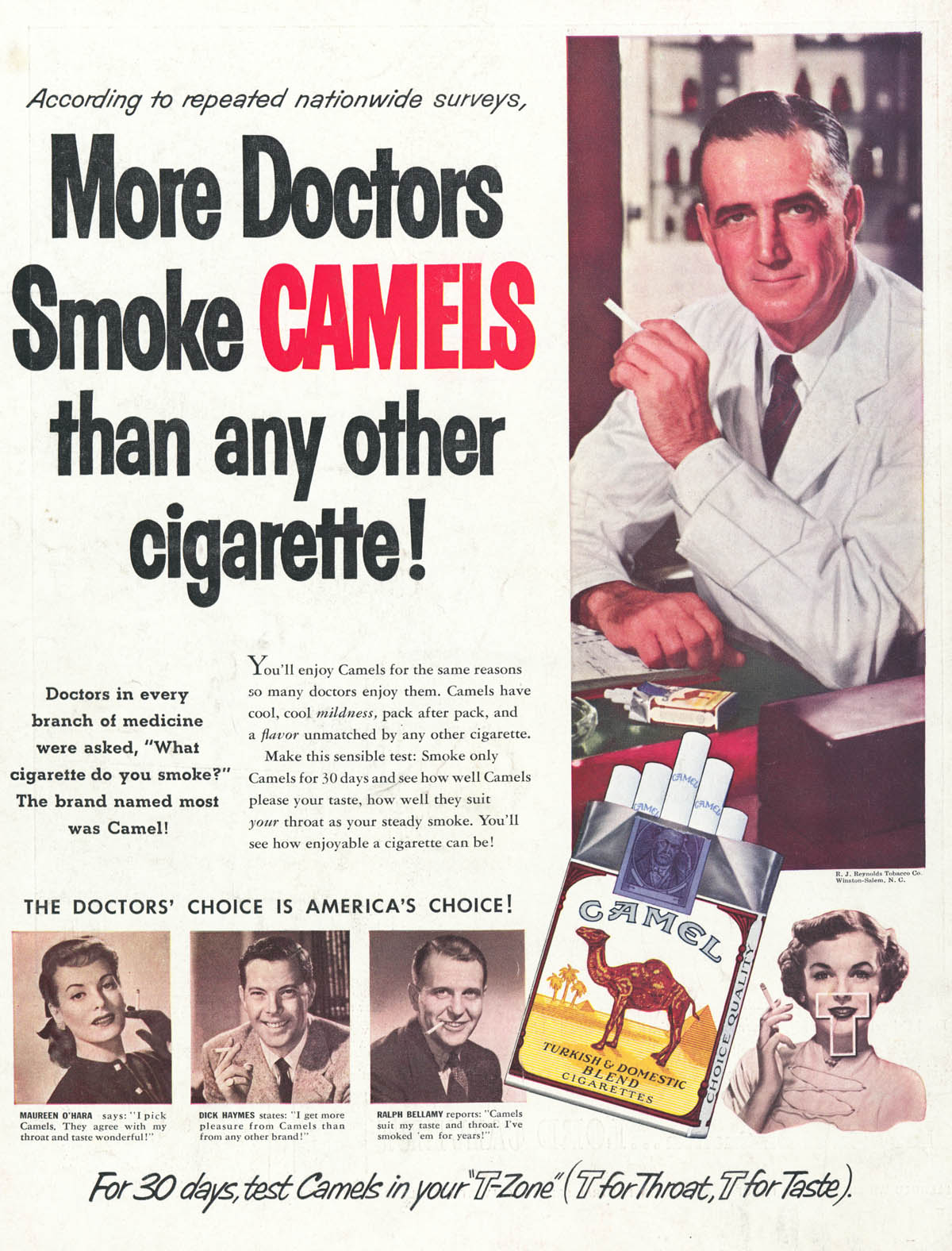 more doctors smoke camels ad.