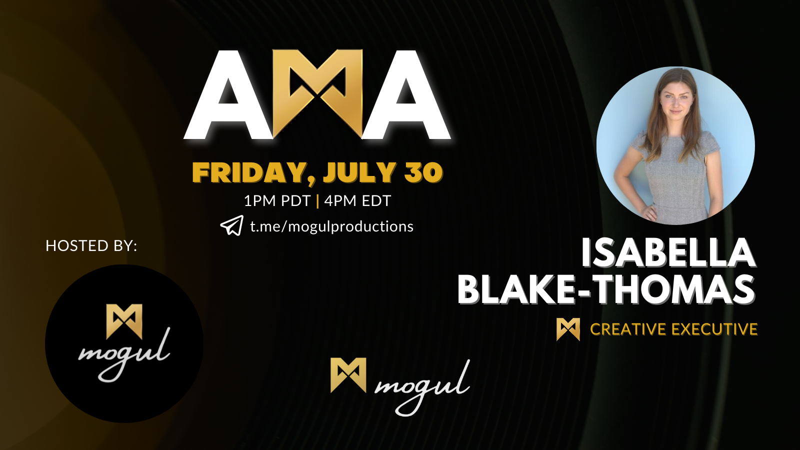 Showcase AMA with Isabella Blake-Thomas Recap