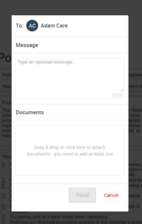 Add an optional message