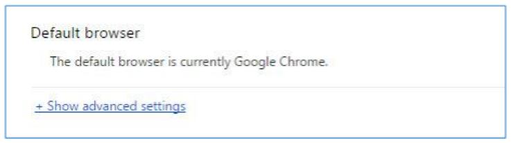 Default browser settings