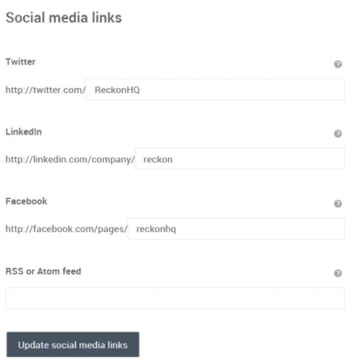 Update social media links