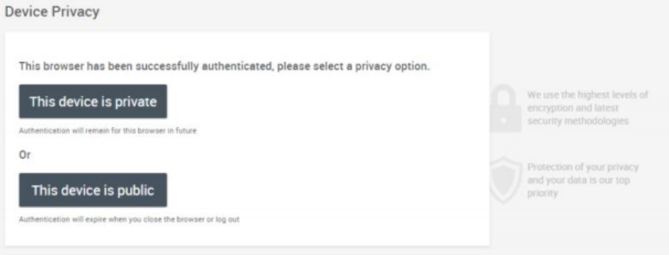 Device privacy