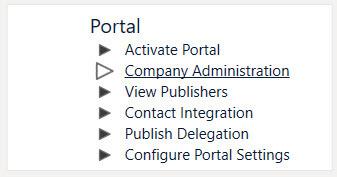 Company Administration Tab