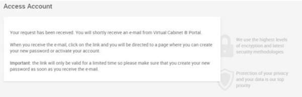 reset my password email