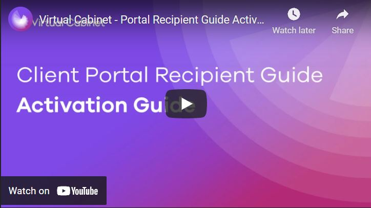 Activate your portal account - video