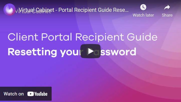 Reset your password - video
