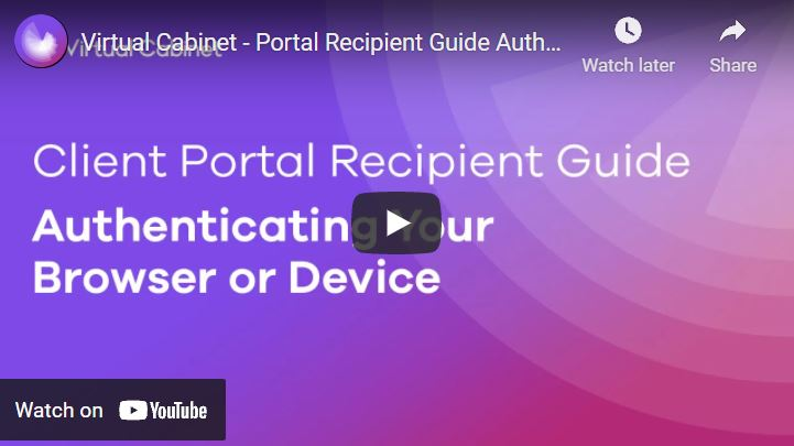 Authenticate your browser - video