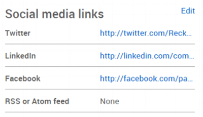 Include your social media links
