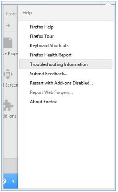 Select troubleshooting information