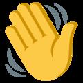 Yellow emoji waving hand