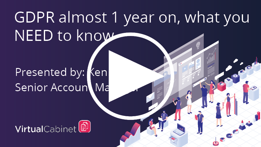 GDPR 1 year on - what you need to know - webinar