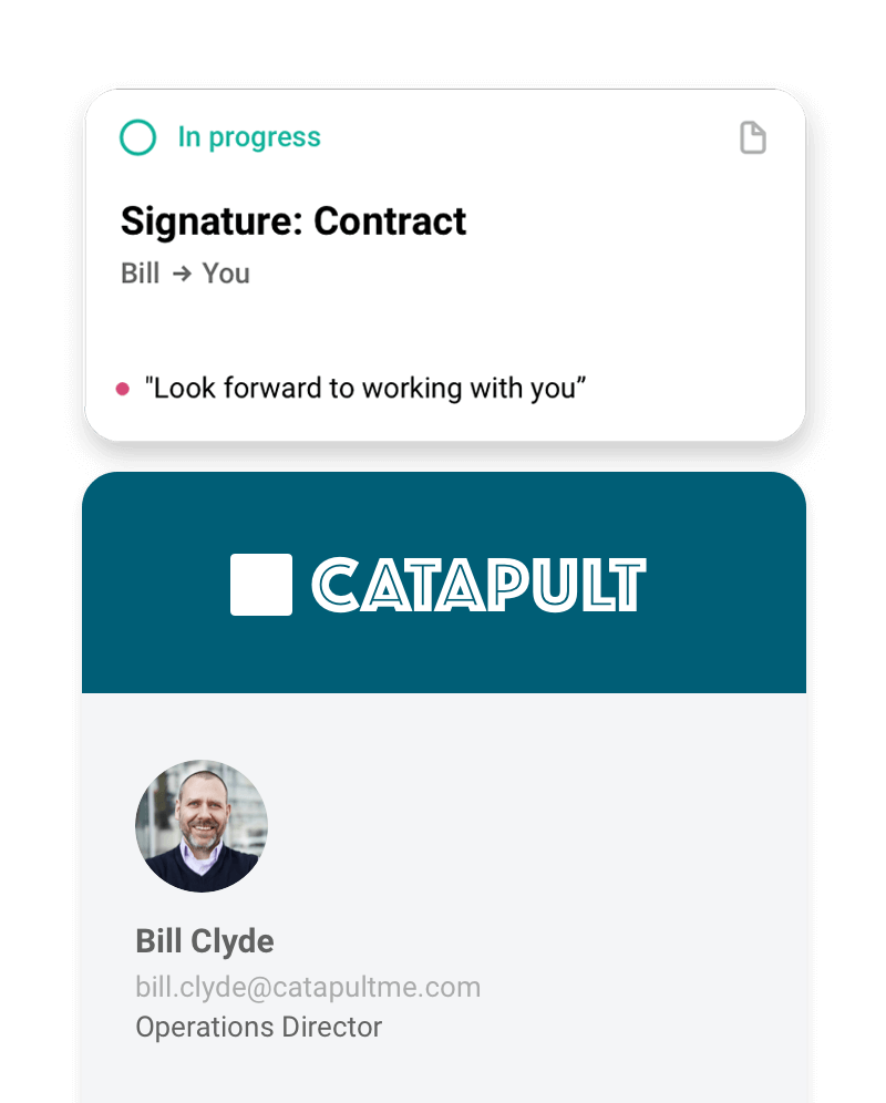 send contract to bill to sign