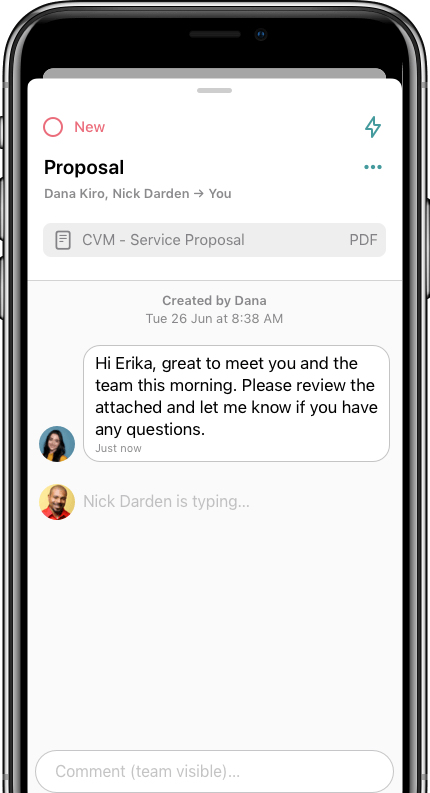 Communication with contact in GetBusy