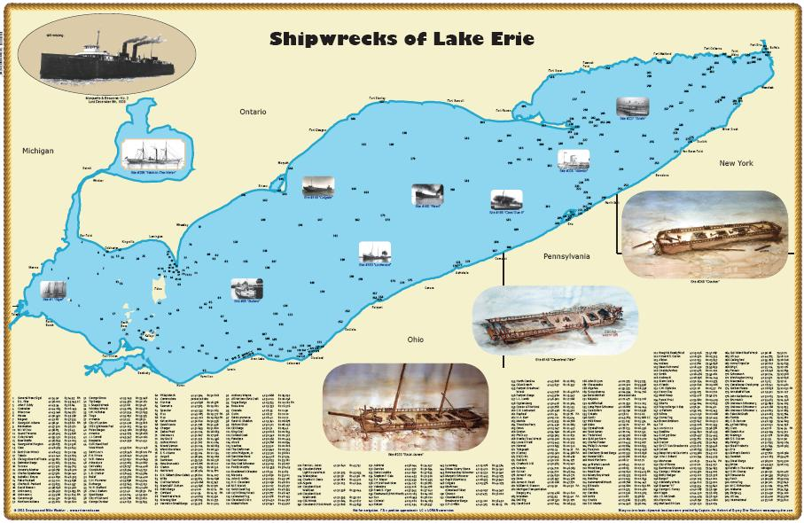 Shipwrecks of Lake Erie (Map)