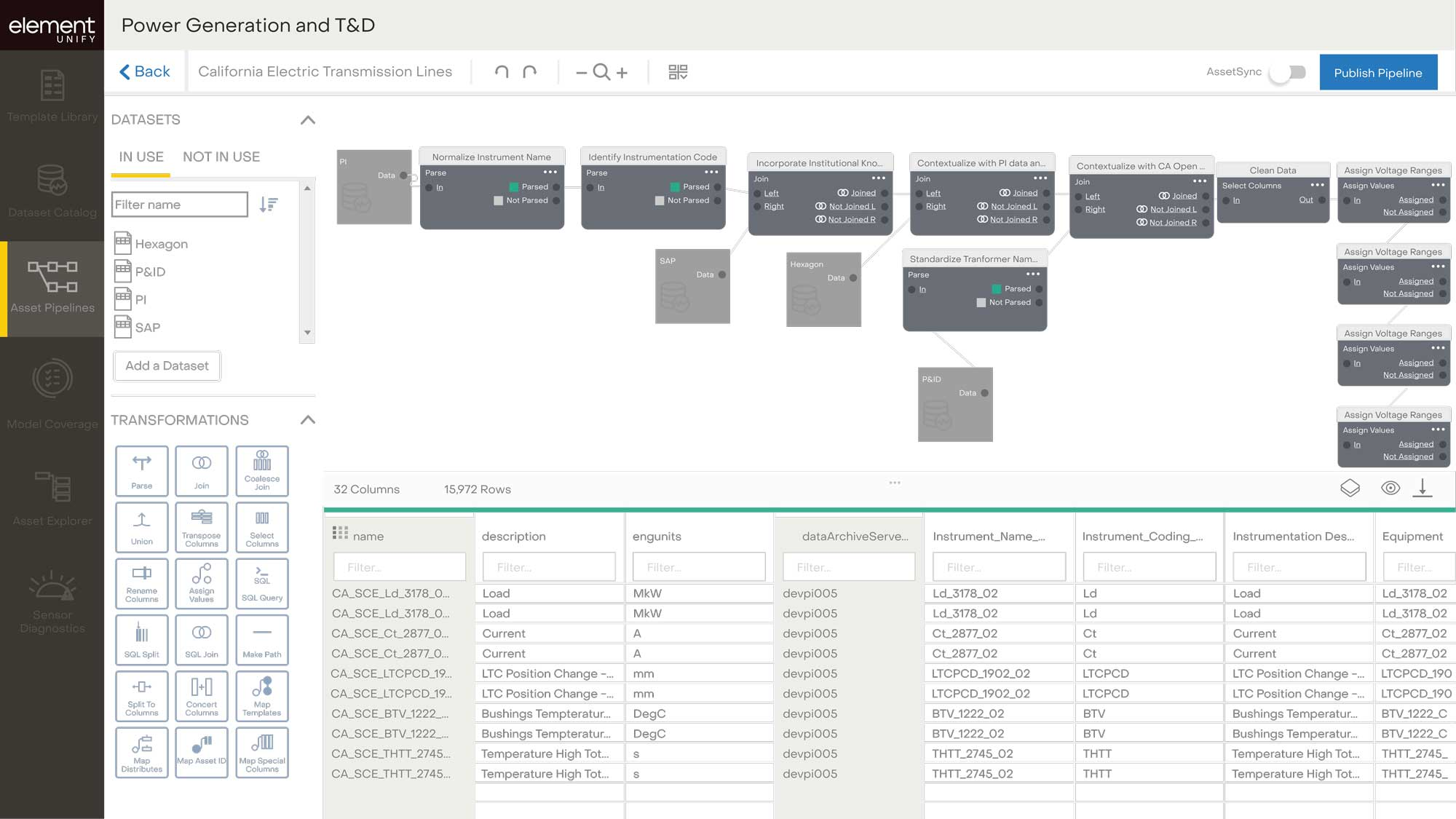 Element Unify product integration screenshot
