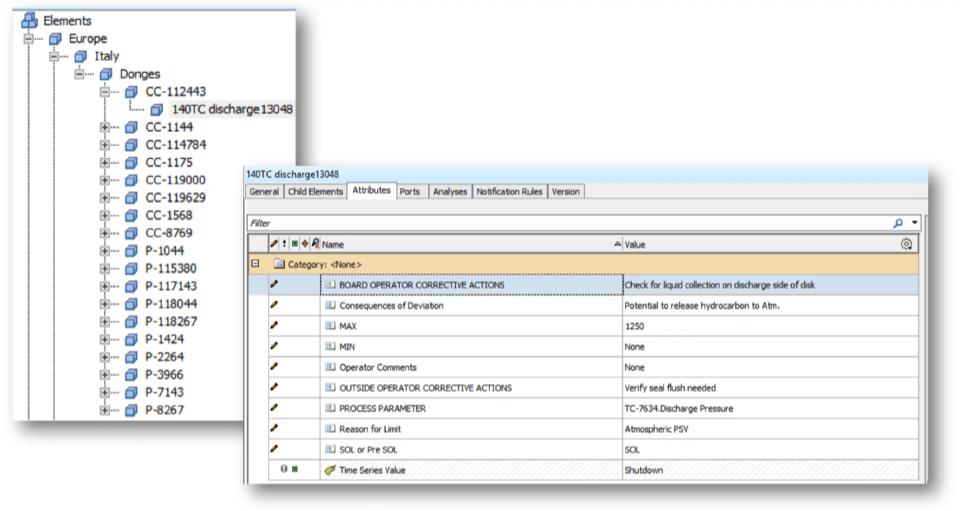 Screenshot of static data import