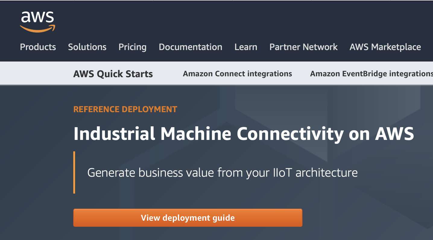 industrial machine connectivity on aws