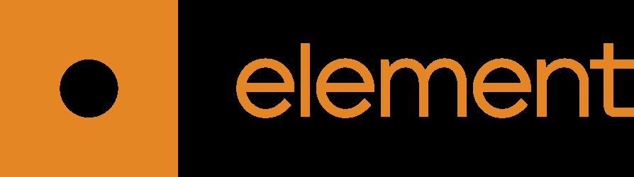 Element Analytics full logo white