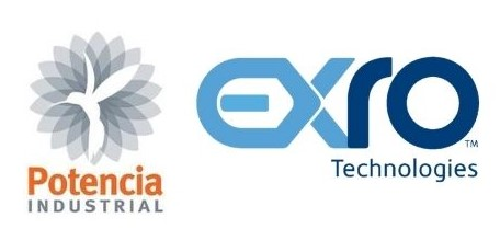 Potencia Industrial and Exro Technologies Logos