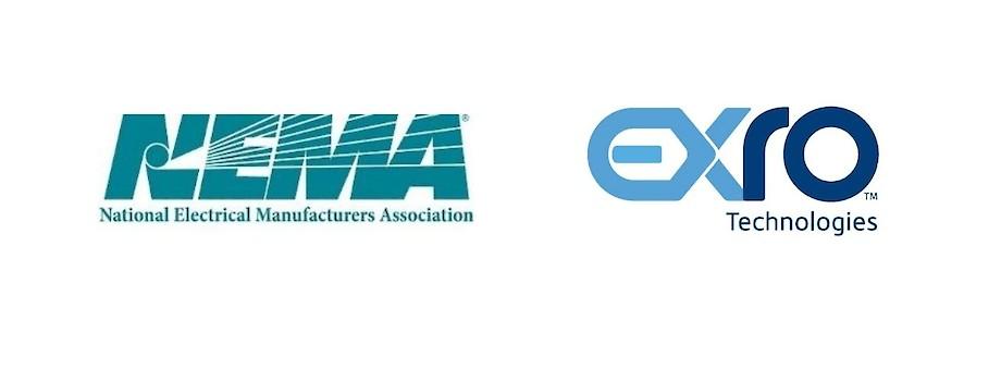 National Electrical Manufacturers Association (NEMA) and Exro Technologies Logos