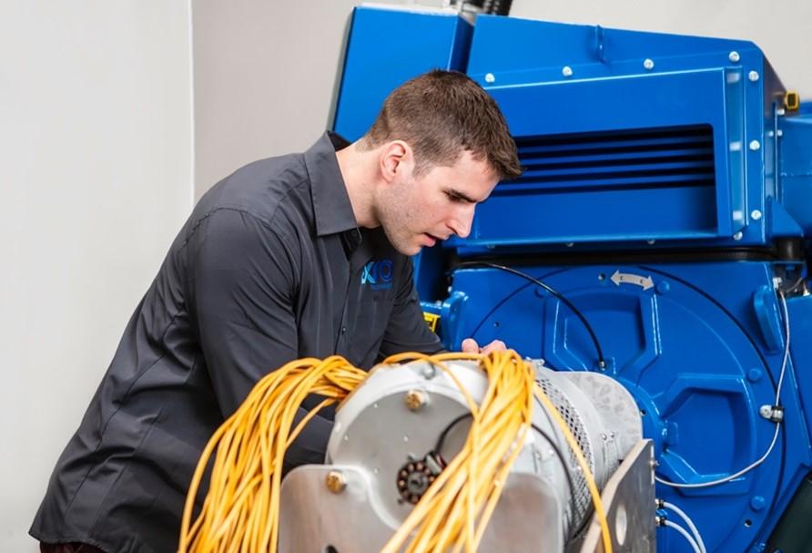 Engineer working at Exro Technologies' Calgary facility.