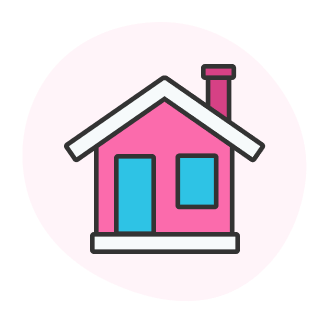 A house icon to represent the SSAT at Home.