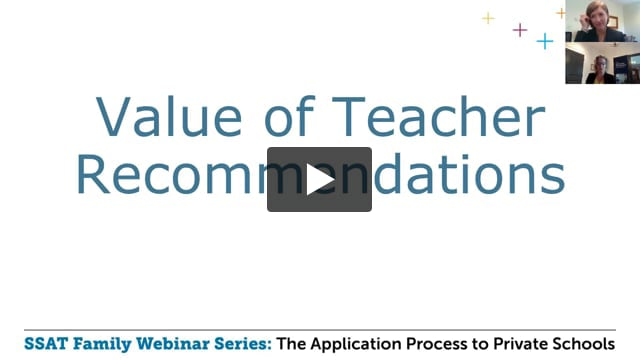Value of Teacher Recommendations