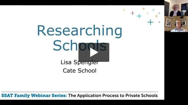 The School Search Process