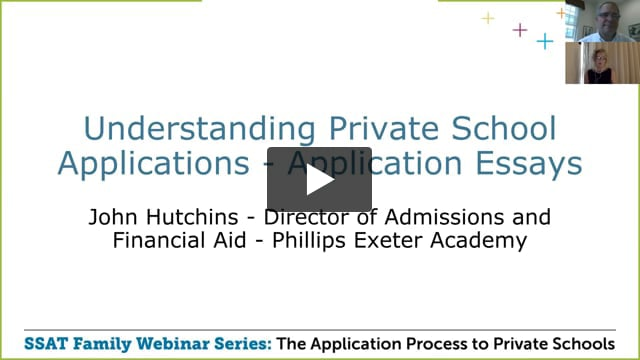 Understanding Private School Applications - Application Essays