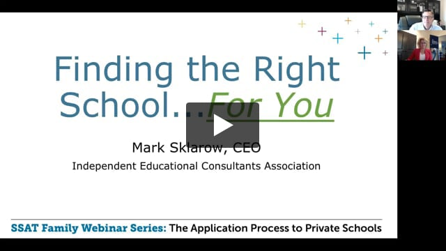 Finding the Right School...For You