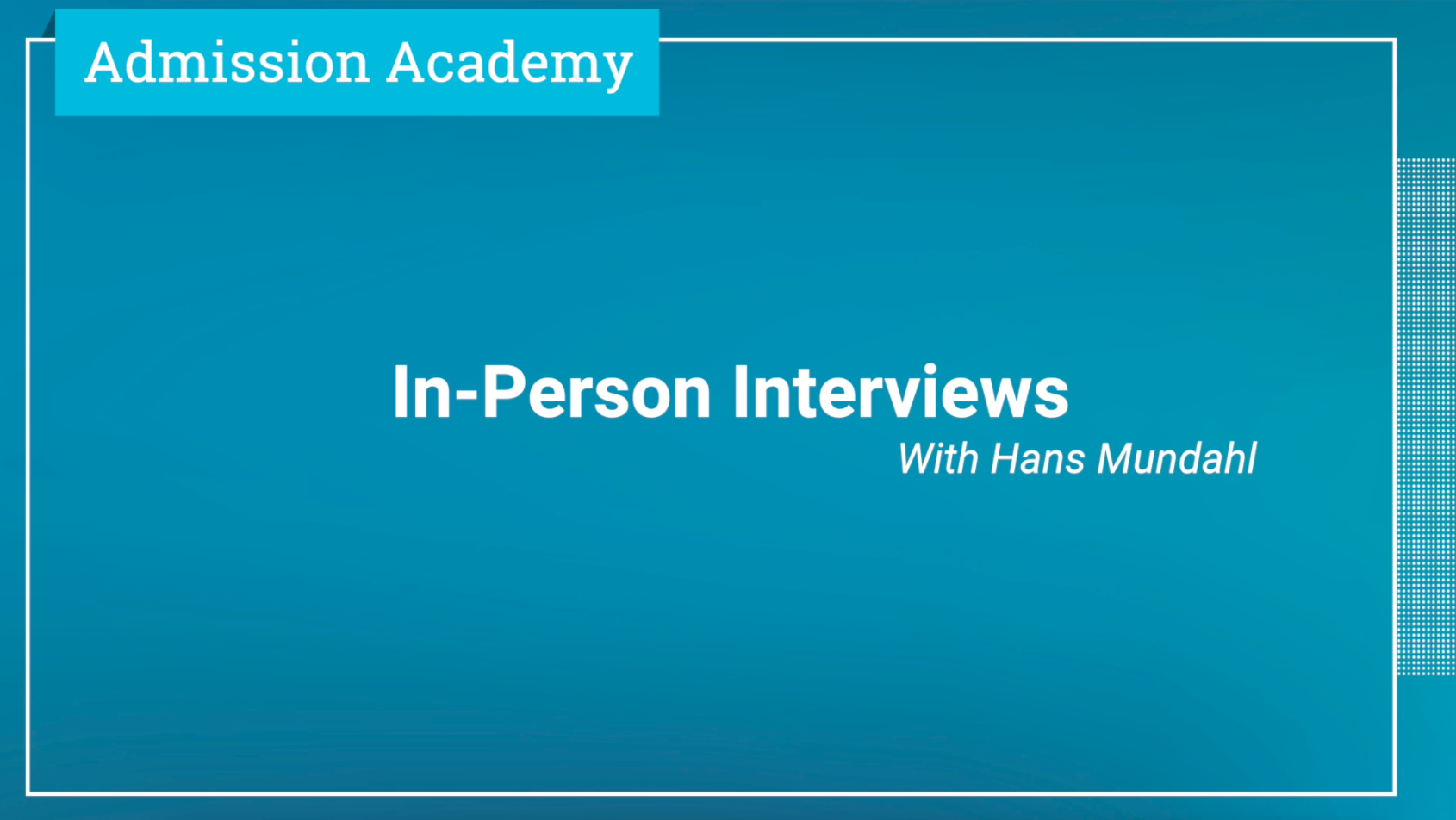 In-Person Interviews Tips