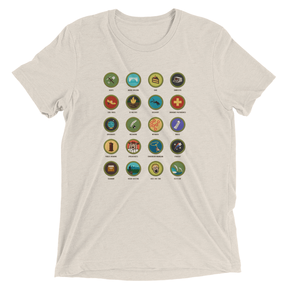 Confab 2014 content strategy merit badges unisex T-shirt