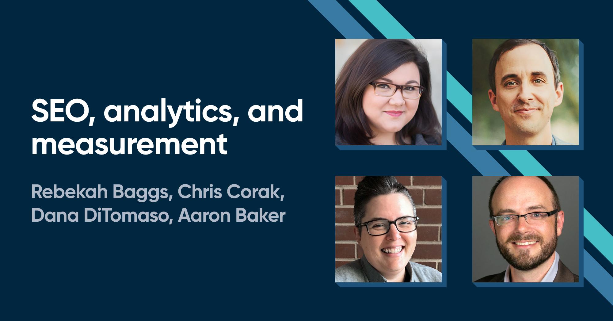 SEO, analytics, and measurement