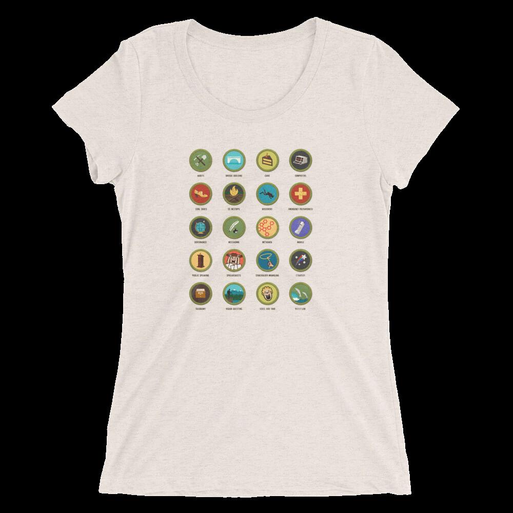 Confab 2014 content strategy merit badges women's T-shirt