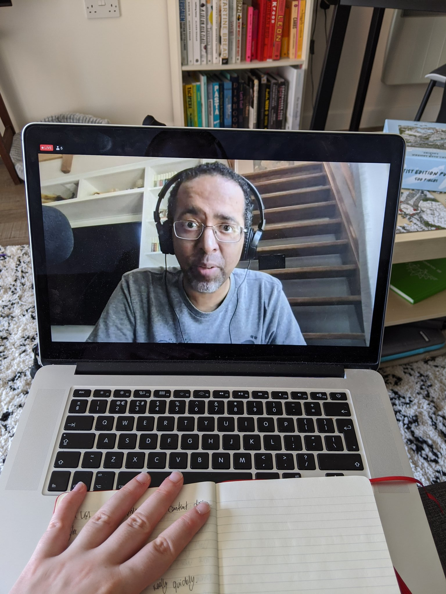 Attendee at home photo