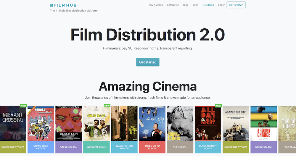 FilmHub has made our list of the best film aggregators of 2020