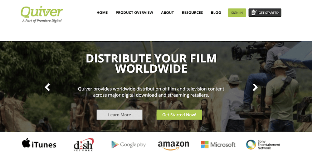 Quiver Digital is one of the best film aggregators of 2020.