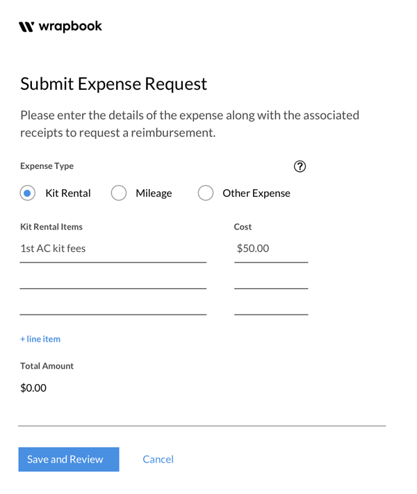 In Wrapbook, you can easily submit your kit fee as an invoice.