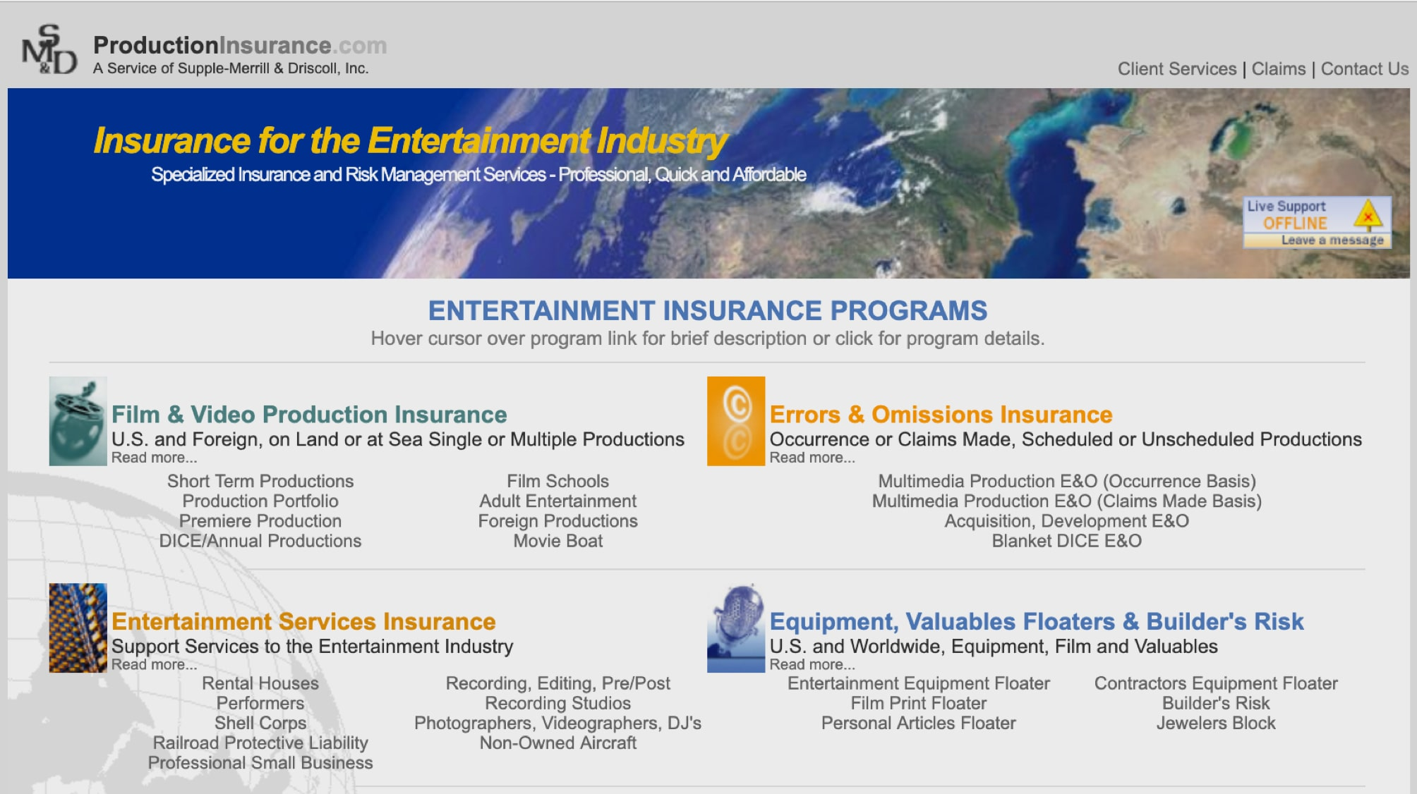 ProductionInsurance.com made our list of the best insurance companies of 2019 for their comprehensive packages.