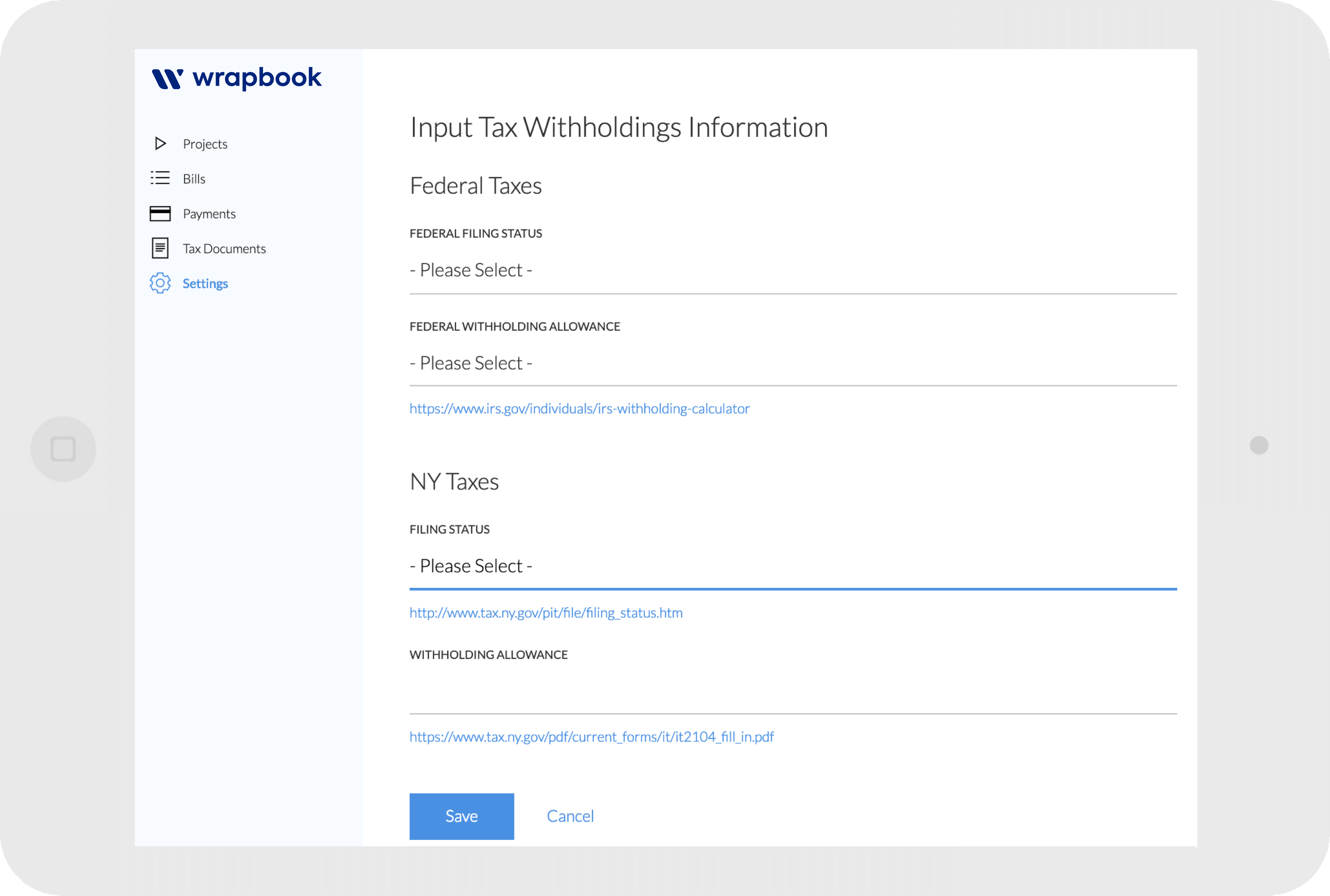 It's easy to onboard freelancers in Wrapbook's mobile-friendly web app.