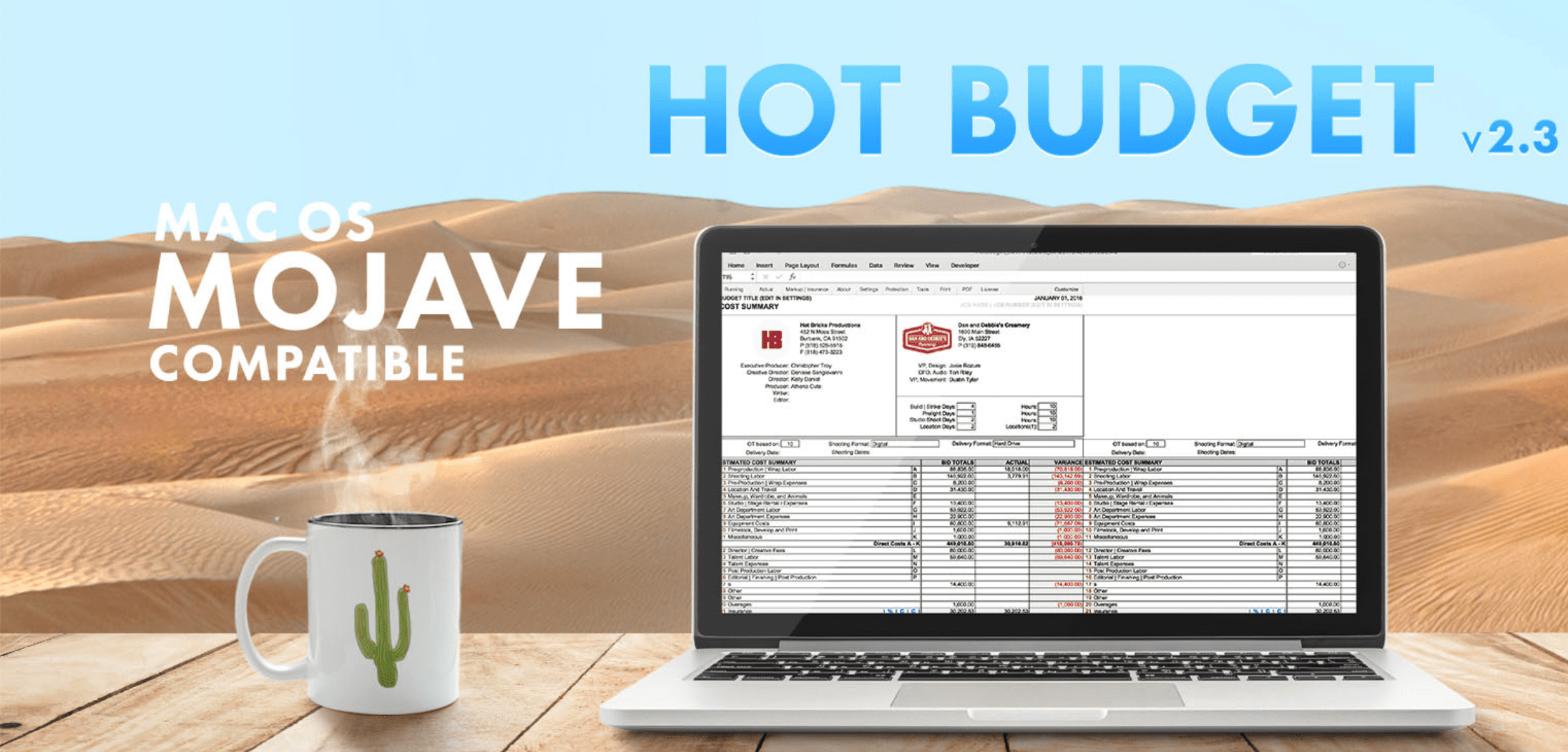 Hot Budget is cheaper when purchased with Hot Bricks - Best Film Budgeting Software 2020.