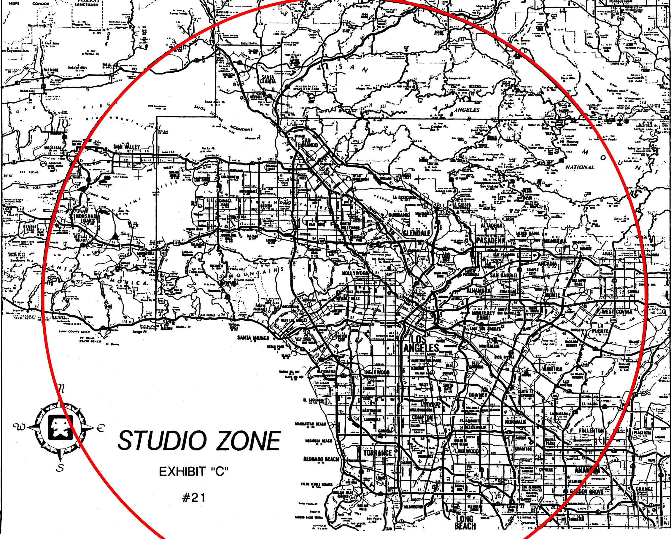 Behold, the SAG Studio Zone of Los Angeles