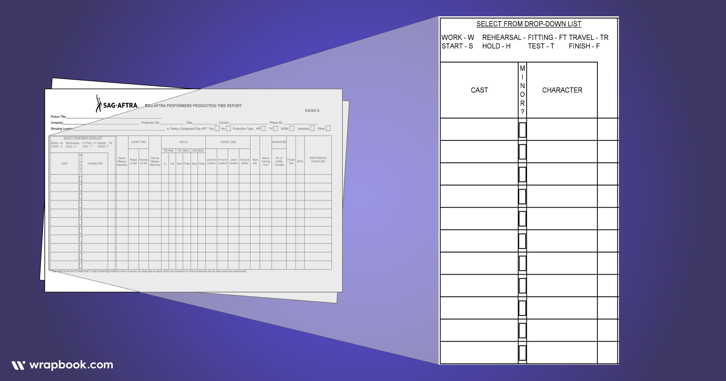 Get ready to learn some acronyms - How to Fill Out The SAG Exhibit G Form