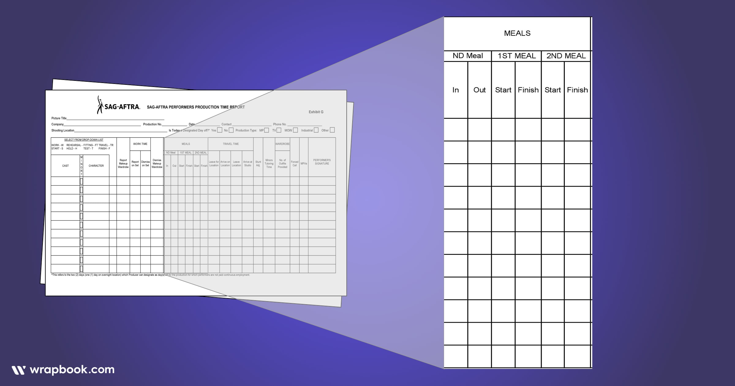 Missing lunch can get expensive - How to Fill Out The SAG Exhibit G Form