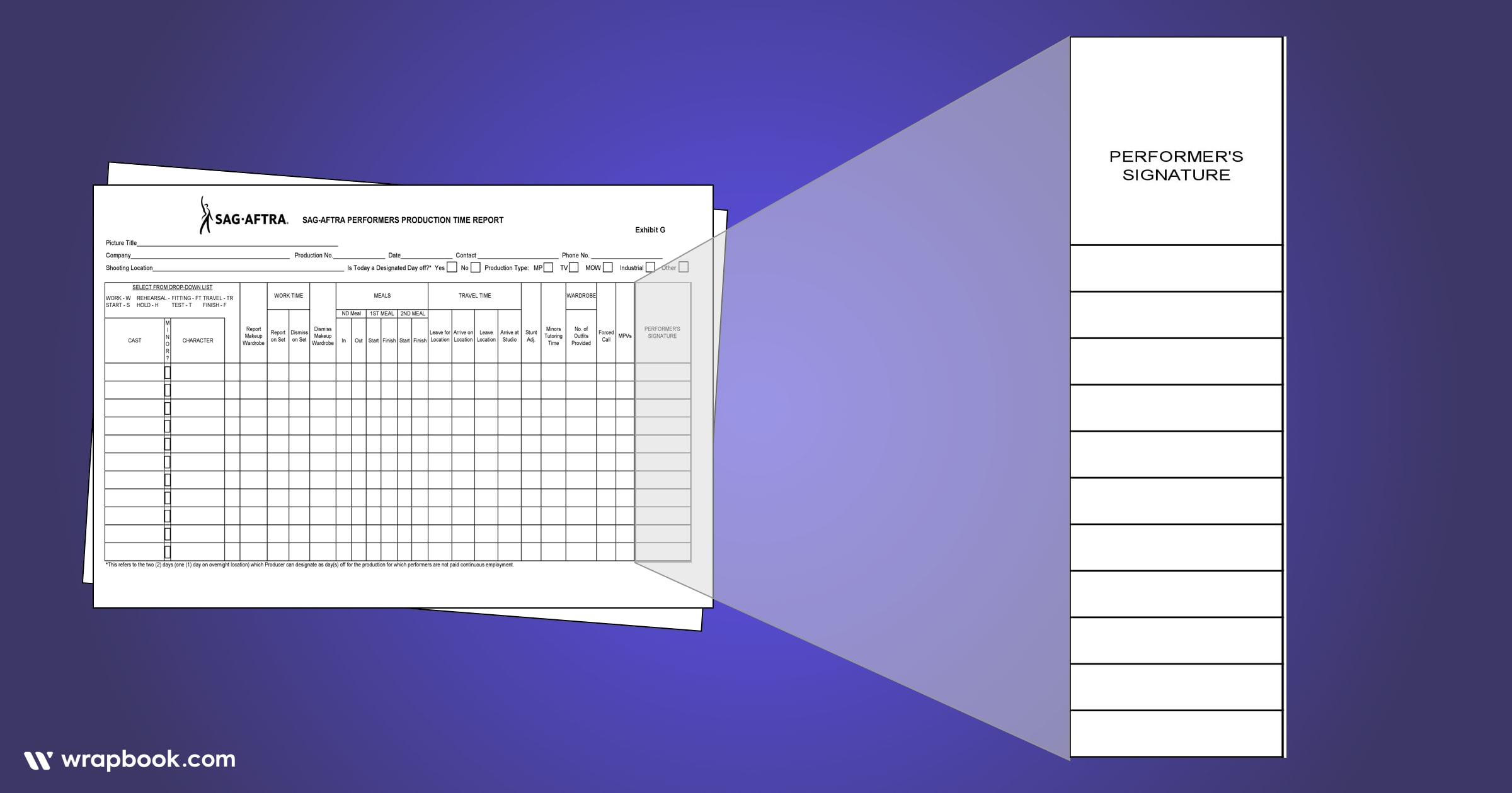The easiest way to get an actor's autograph - How to Fill Out The SAG Exhibit G Form